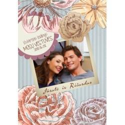 Vestuvių žurnalas   Retro gėlės